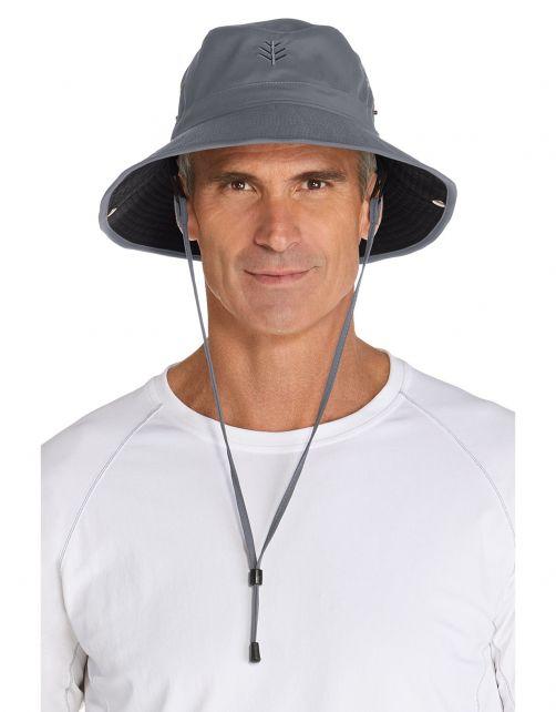 Coolibar---Lichtgewicht-UV-Bucket-Hoed-voor-heren---Chase---Carbon/Zwart