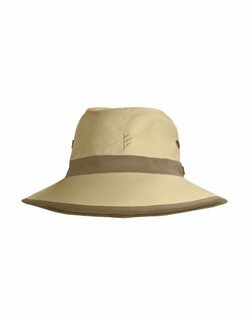 Coolibar---UV-Golfhoed-met-brede-rand-voor-volwassenen---Matchplay---Bruin/Kaki