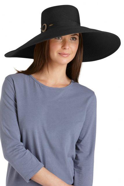Coolibar---UV-Smartstrawhoed-voor-dames---Zwart