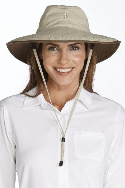 Coolibar---UV-strandhoed-dames---khaki