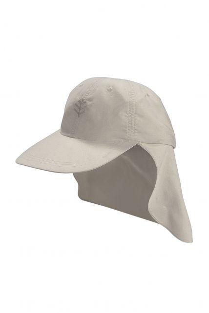 Coolibar---UV-sport-zonnepet-voor-kinderen---Beige