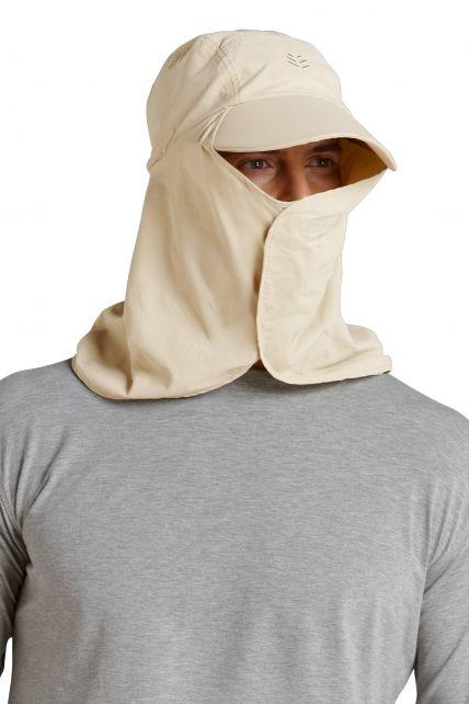 Coolibar---UV-hoofdbeschermer-pet---Stone