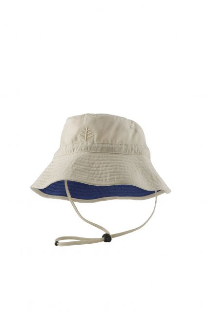 Coolibar---UV-zonnehoed-voor-kinderen---Beige
