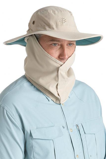 Coolibar---UV-hoed-voor-heren---Bruin-/-Donkergroen