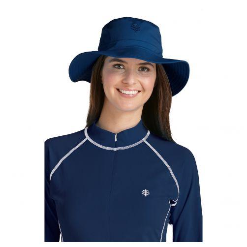 Coolibar---UV-bucket-hat-unisex---Blauw