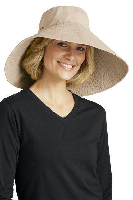 Coolibar---UV-flaphoed-dames---Natural
