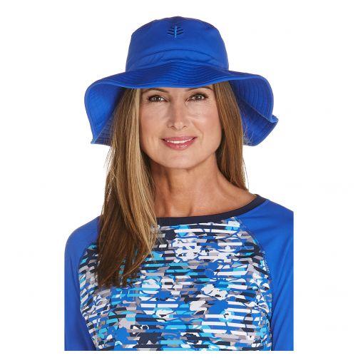 Coolibar---UV-flaphoed-voor-dames---Baja-blauw
