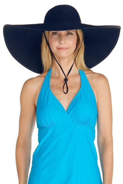 Coolibar---UV-XL-flaphoed-voor-dames---Donkerblauw