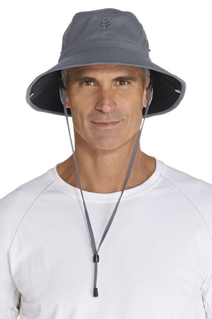 Coolibar---UV-hoed-voor-heren---Grijs