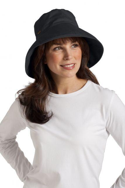 Coolibar---UV-hoed-dames---Zwart