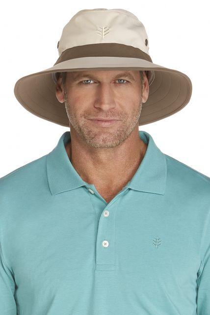 Coolibar---UV-hoed-voor-heren---Beige