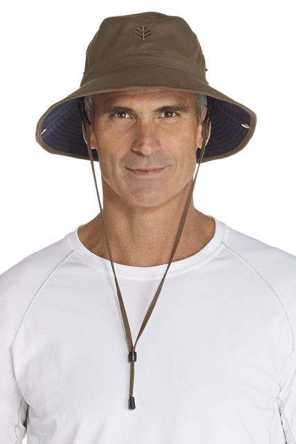 Coolibar---UV-hoed-voor-heren---Bruin