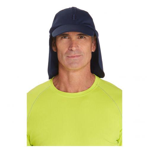 Coolibar---UV-zonnepet-met-nekflap-unisex---Donkerblauw