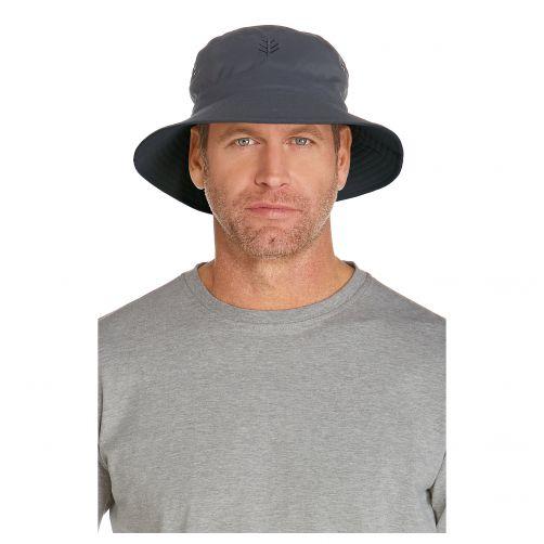 Coolibar---UV-bucket-hat-voor-heren---Lichtgrijs-/-Steenkoolgrijs