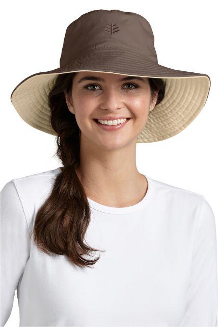 Coolibar---UV-beschermende-hoed-dames---Beige