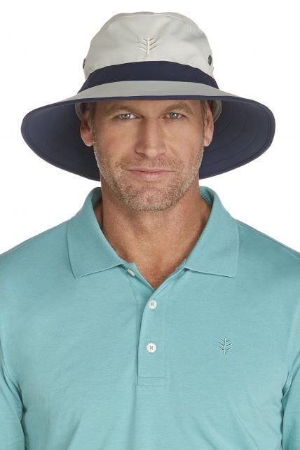 Coolibar---UV-hoed-voor-heren---Grijs-