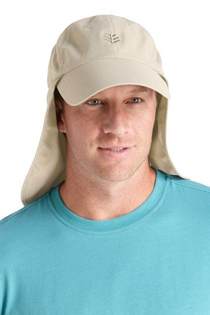 Coolibar---UV-vispet-voor-heren---Beige