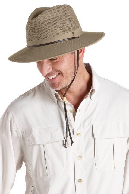 Coolibar---Pletbare-geventileerde-UV-Hoed-voor-heren---Kaden---Kaki
