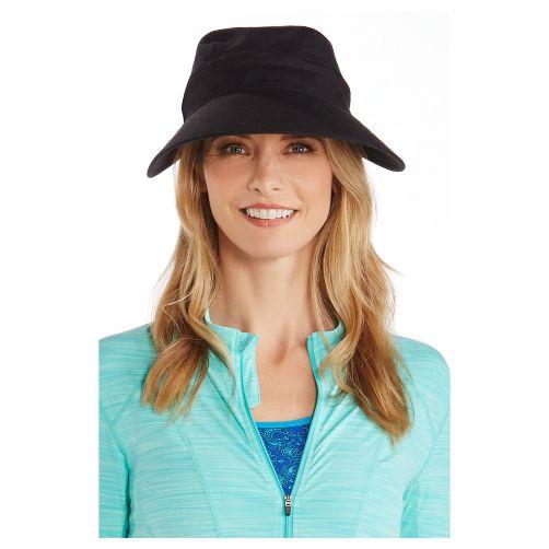 Coolibar---Afritsbare-UV-zonneklep-voor-dames---Zwart