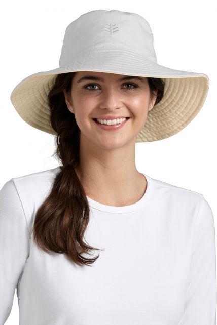 Coolibar---UV-beschermende-hoed-dames---Wit