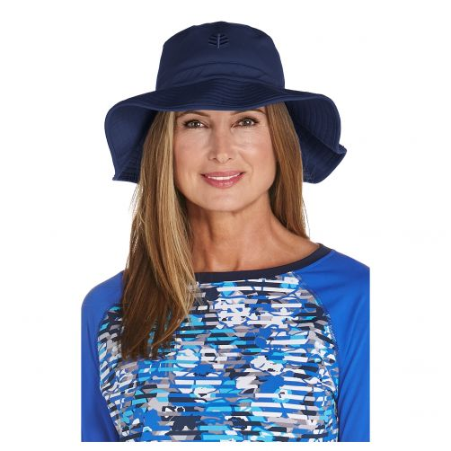 Coolibar---UV-flaphoed-voor-dames---Navy-blauw