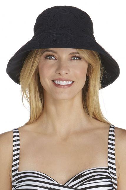 Coolibar---UV-gehaakte-hoed-voor-dames---Zwart