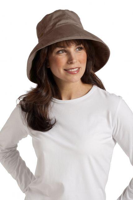 Coolibar---UV-hoed-voor-dames---Bruin
