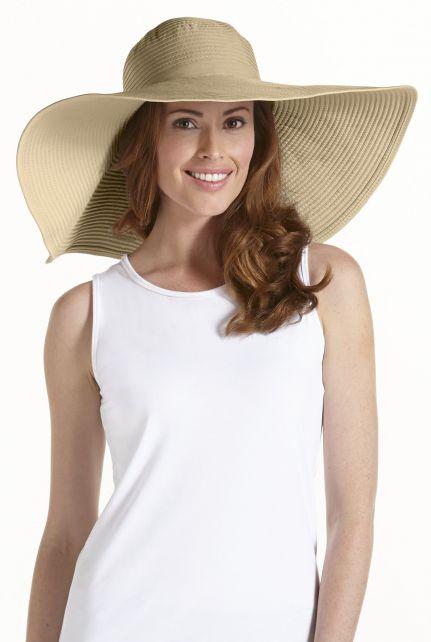 Coolibar---XL-UV-flaphoed-dames---Tan