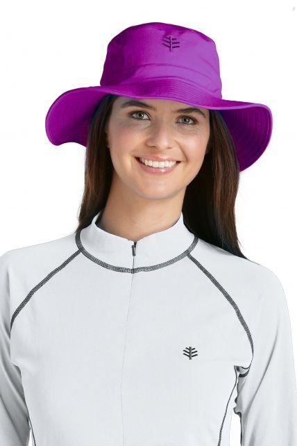 Coolibar---UV-strandhoed-voor-dames---Paars