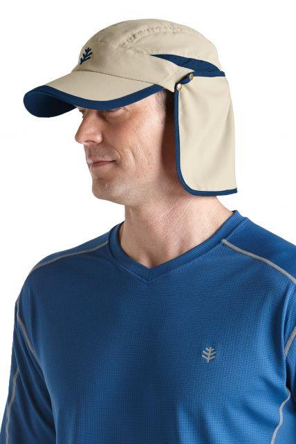 Coolibar---UV-unisex-sport-zonnepet---Beige
