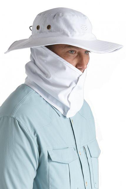 Coolibar---UV-hoed-voor-heren---Wit