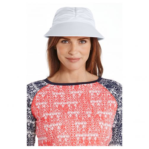 Coolibar---UV-zonneklep-voor-dames---Wit