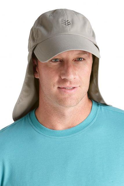 Coolibar---UV-vispet-voor-heren---Grijs