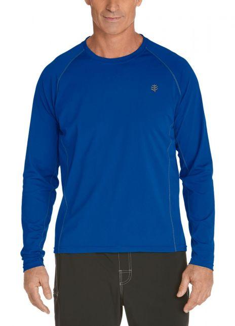 Coolibar---UV-zwemshirt-lange-mouwen-heren---blauw
