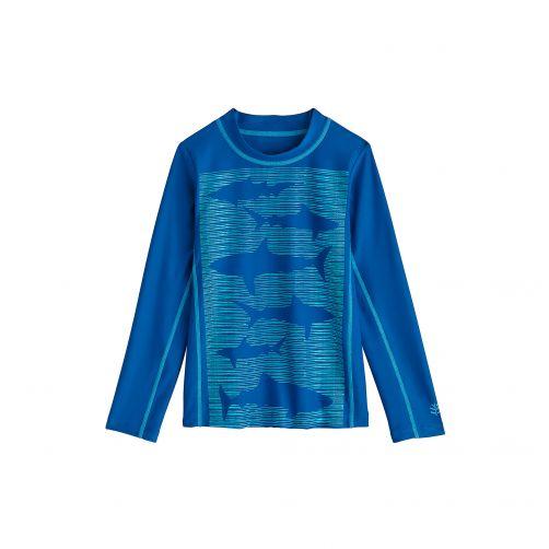 Coolibar---UV-zwemshirt-voor-kinderen---School-of-Sharks-blauw