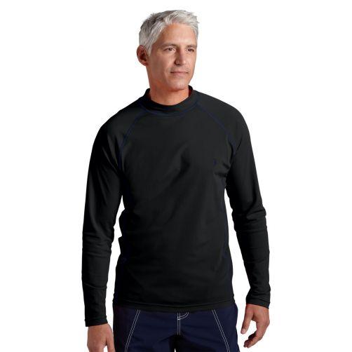 Coolibar---UV-Zwemshirt-voor-heren---Longsleeve---Tulum-Rash---Zwart