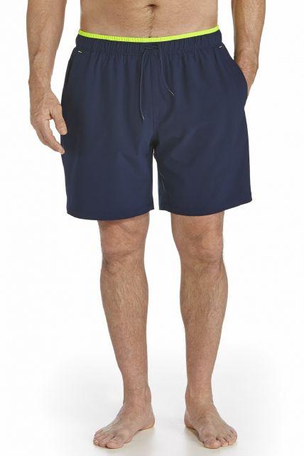 Coolibar---UV-Zwembroek-heren---Donkerblauw