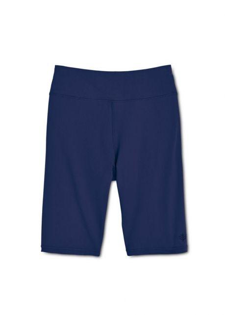 Coolibar---UV-zwem-/-sport-legging-kort-dames---donkerblauw