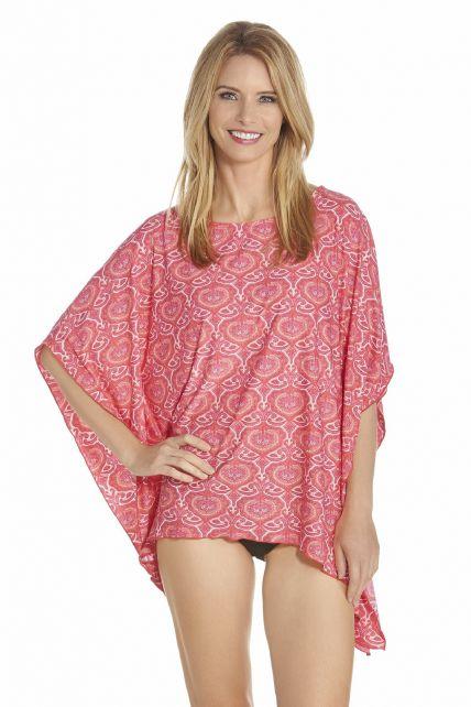 Coolibar---UV-strand-poncho-dames---Roze
