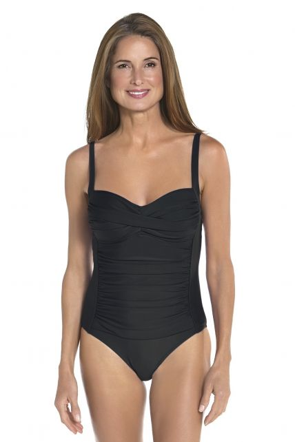 Coolibar---Dames-Ruche-bandeau-UV-badpak---Zwart