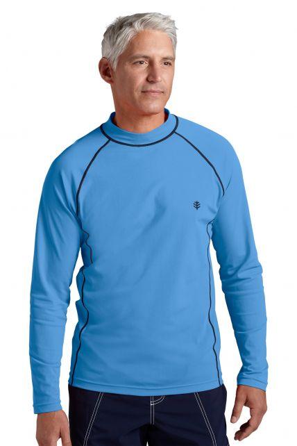 Coolibar---UV-zwemshirt-lange-mouwen-heren---Surf-Blauw