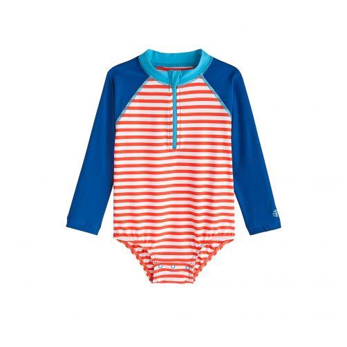 Coolibar---UV-badpakje-voor-baby's-met-lange-mouwen---Tango-Stripe