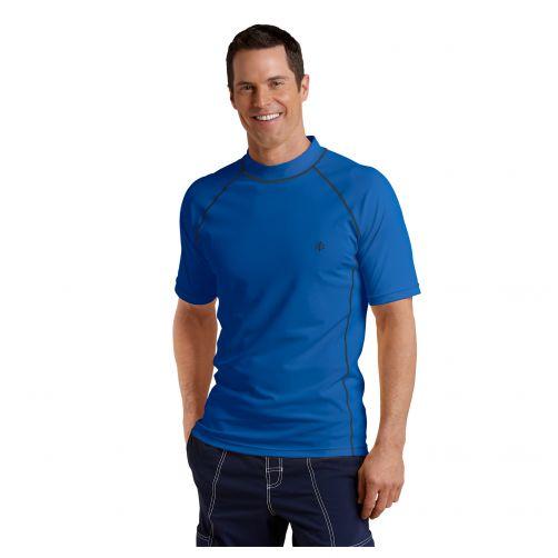 Coolibar---UV-beschermend-zwemshirt-korte-mouwen-heren---Royal-blauw
