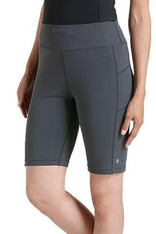 Coolibar---UV-zwem-/-sport-legging-kort-dames---grijs