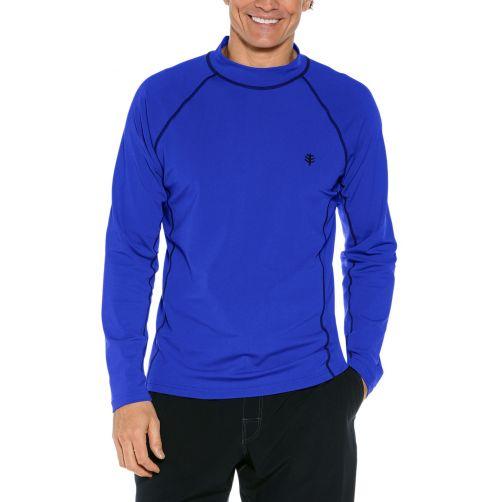 Coolibar---UV-Zwemshirt-voor-heren---Longsleeve---Tulum-Rash---Kobaltblauw