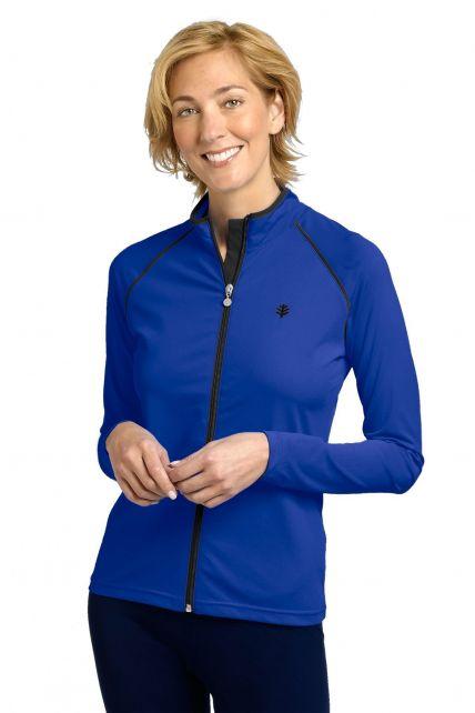 Coolibar---UV-zwemjas-voor-dames---blauw