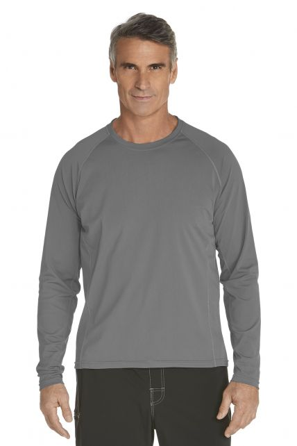 Coolibar---UV-zwemshirt-lange-mouwen-heren---grijs