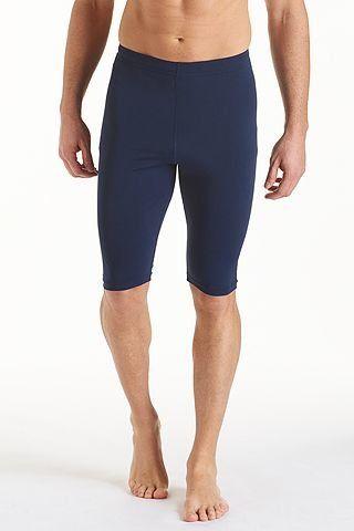 Coolibar---UV-zwemshort-heren---donkerblauw