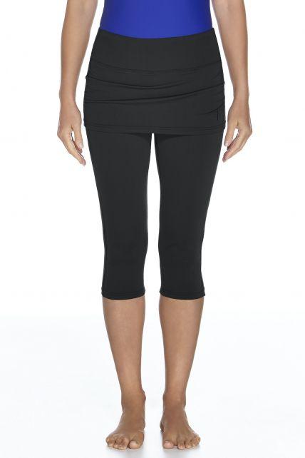 Coolibar---UV-capri-legging-met-rokje-dames---zwart
