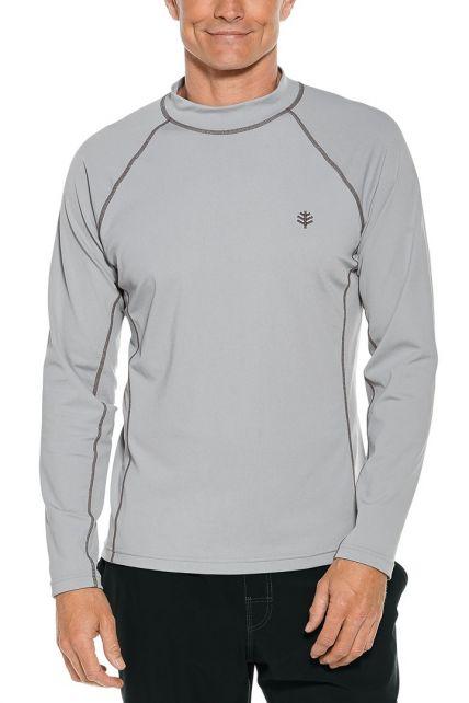 Coolibar---UV-beschermend-zwemshirt-lange-mouwen-heren---Mercury-grijs